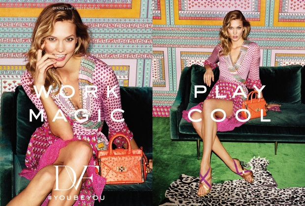 Karlie Kloss featured in Diane von Furstenberg's spring '16 campaign.
